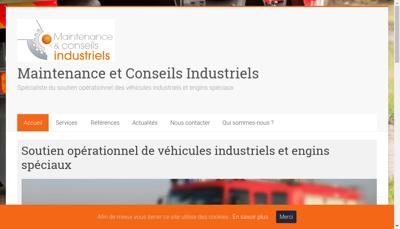 Capture d'écran du site de Maintenance & Conseils Industriels