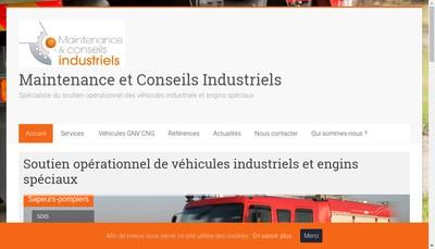 Site internet de Maintenance & Conseils Industriels