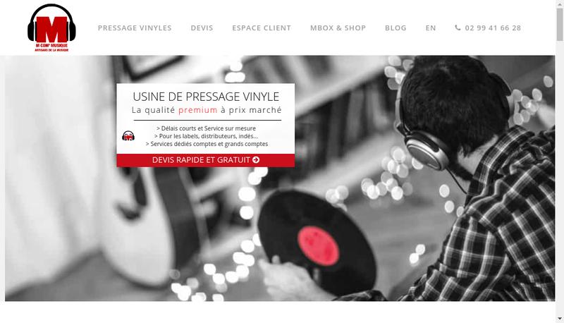 Capture d'écran du site de France-Vinyle