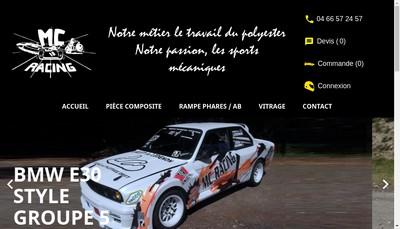 Site internet de Mc Racing