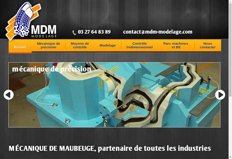 Capture d'écran du site de Modelage Dubois Maubeuge