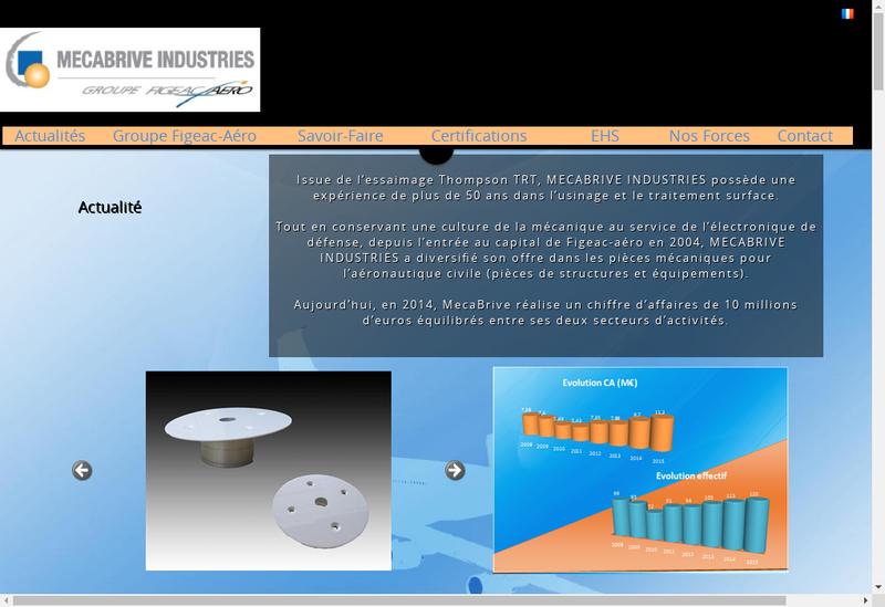 Capture d'écran du site de Mecabrive Industries