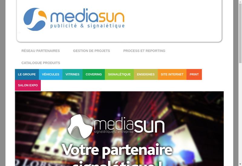 Capture d'écran du site de Mediasun
