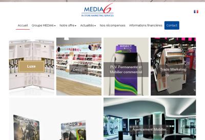 Capture d'écran du site de Media 6 Production Metal