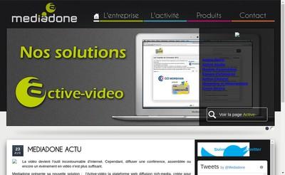 Site internet de Mediadone