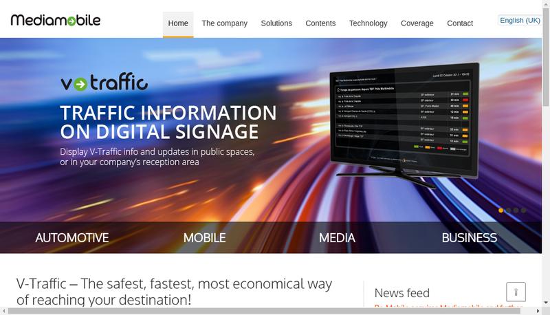 Capture d'écran du site de Mediamobile