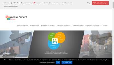 Capture d'écran du site de Media Perfect