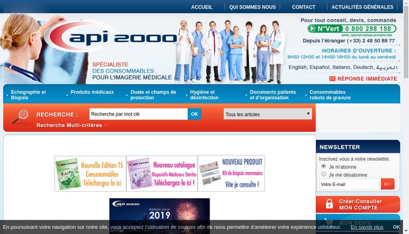 Capture d'écran du site de Mediapi