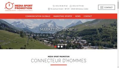 Site internet de Media Sport Promotion par Abrev MSP