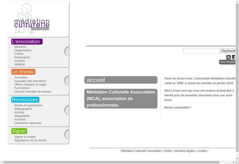 Capture d'écran du site de Agce Communic Mediation Cultur