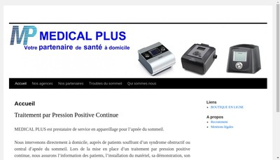 Site internet de Medical Plus France