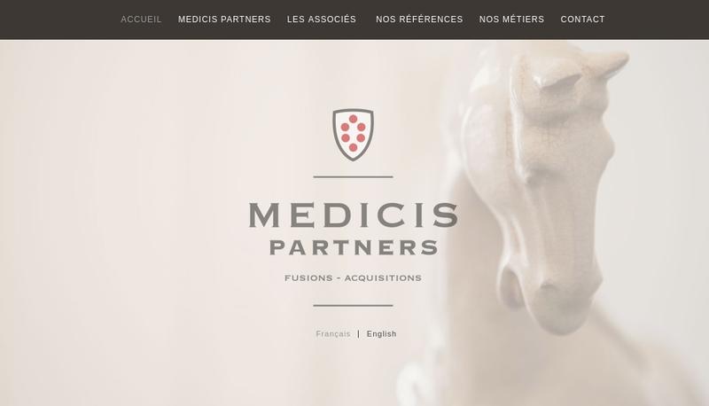 Capture d'écran du site de Medicis Partners