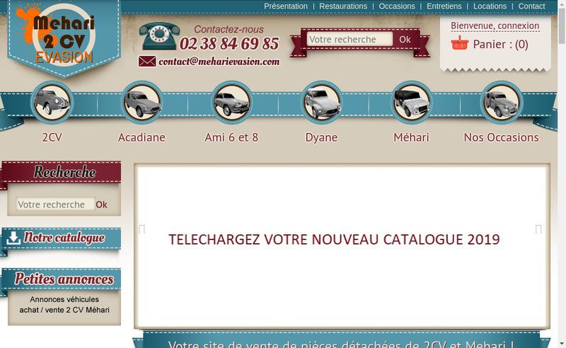 Capture d'écran du site de Checy Negoce Auto 45