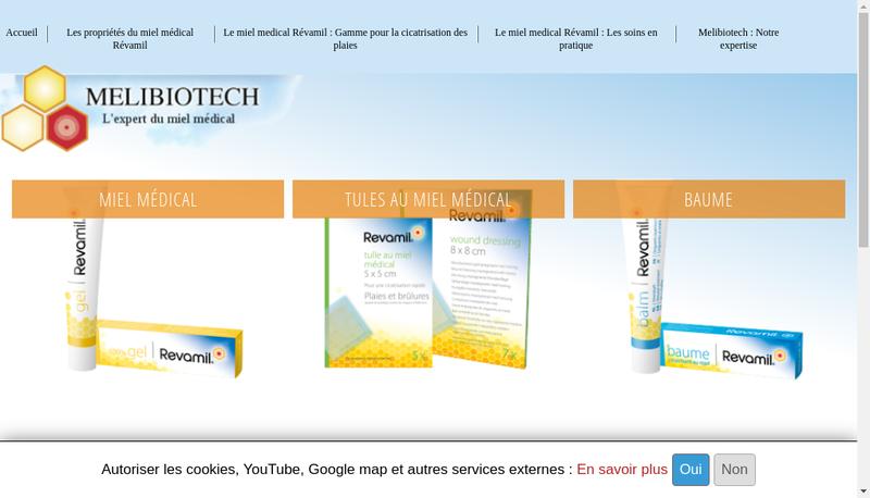 Capture d'écran du site de Melibiotech