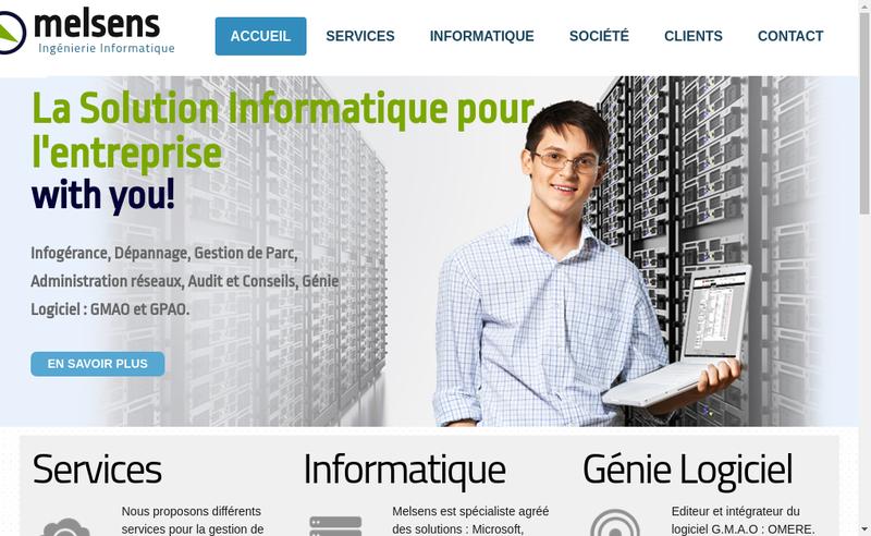 Capture d'écran du site de Melsens