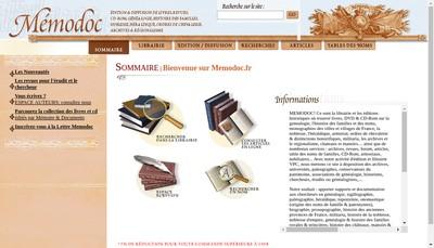 Site internet de Memodoc