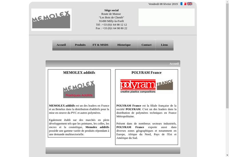 Capture d'écran du site de Polyram France