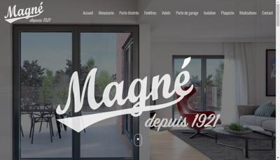 Capture d'écran du site de Etablissements Magne