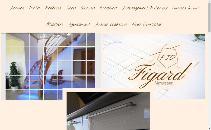Capture d'écran du site de Menuiserie Figard