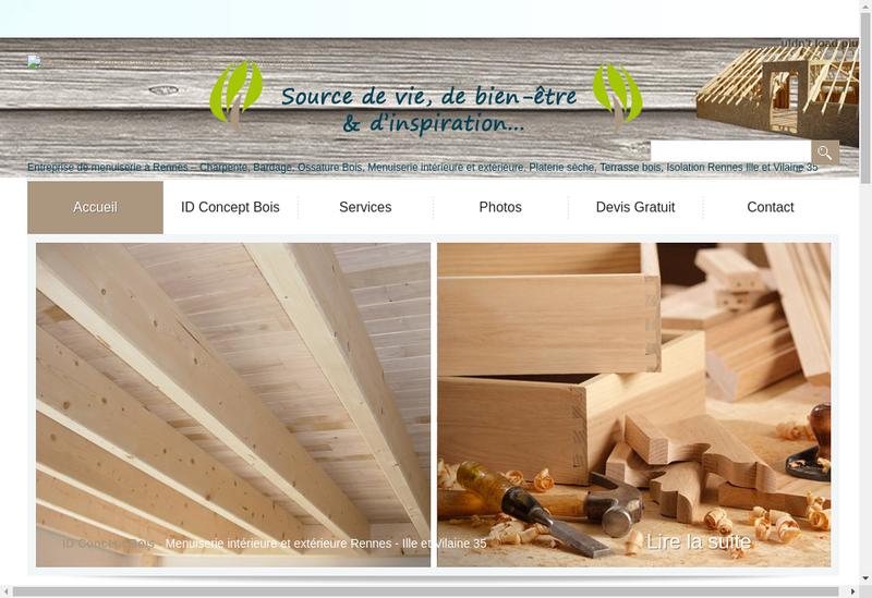 Capture d'écran du site de Id Concept Bois