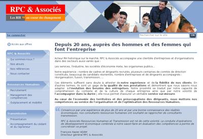 Capture d'écran du site de La Croisee d'Aliss
