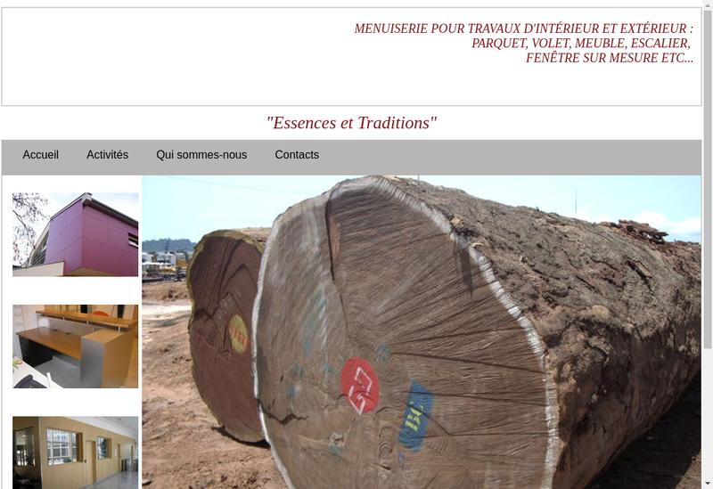 Capture d'écran du site de Menuiserie Saint Antoine