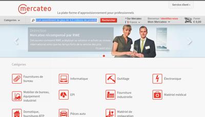 Capture d'écran du site de Mercateo France SAS