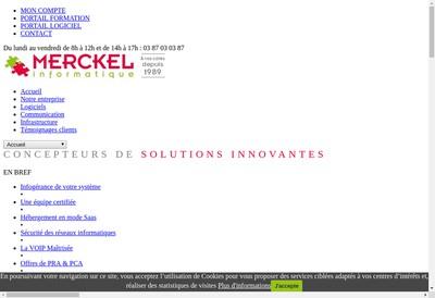 Site internet de Merckel
