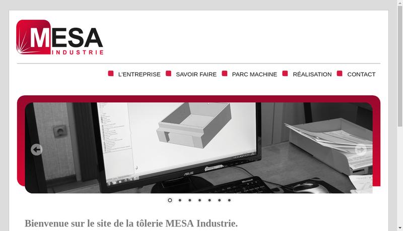 Capture d'écran du site de Metallurgie Sablong Industrie