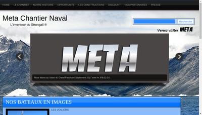 Site internet de Meta Chantier Naval