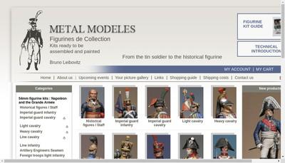 Site internet de Metal Modeles
