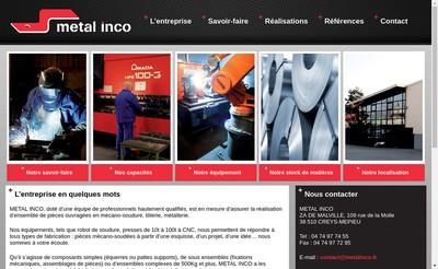 Site internet de Metal Inco