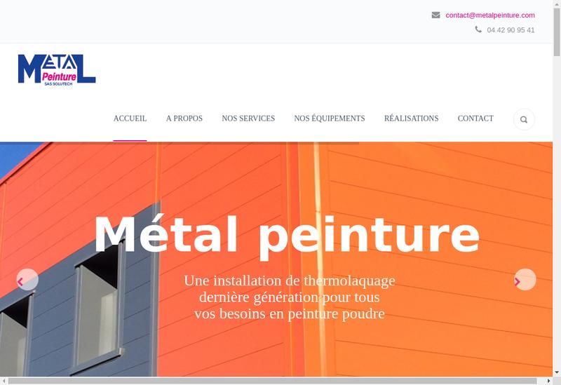 Capture d'écran du site de Metal Peinture