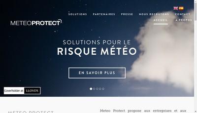 Site internet de Meteo Protect SAS