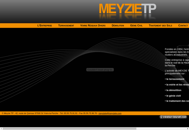 Capture d'écran du site de Meyzie Tp