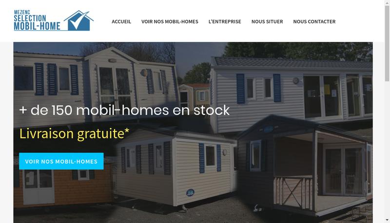 Capture d'écran du site de Mezenc Selection Mobil Home