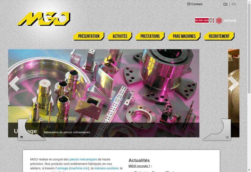 Capture d'écran du site de MGO Lepaul SA