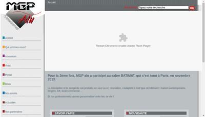 Site internet de MGP Alu