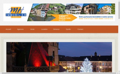 Site internet de MH Immobilier Conseil