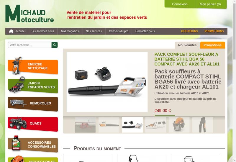 Capture d'écran du site de Michaud Motoculture