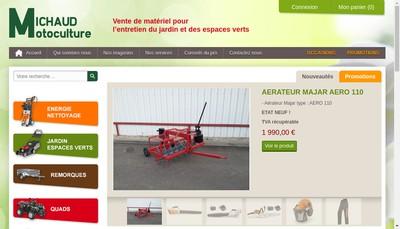 Site internet de Michaud Motoculture