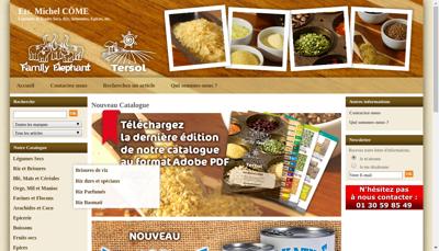 Capture d'écran du site de Etablissements Michel Come