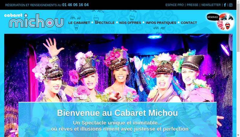 Capture d'écran du site de Ste Exploitation Cabaret Michou