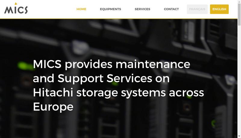Capture d'écran du site de MICS