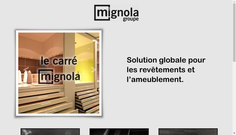 Capture d'écran du site de Groupe Mignola