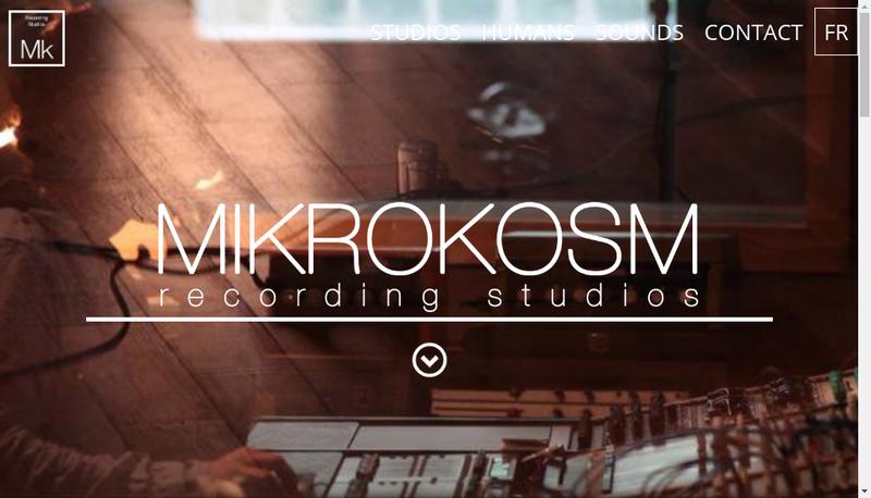 Capture d'écran du site de Mikrokosm