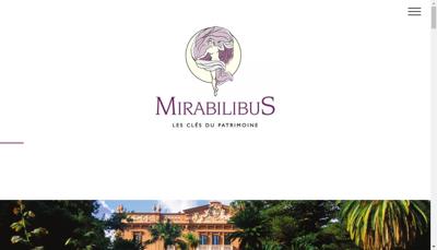 Capture d'écran du site de Mirabilibus