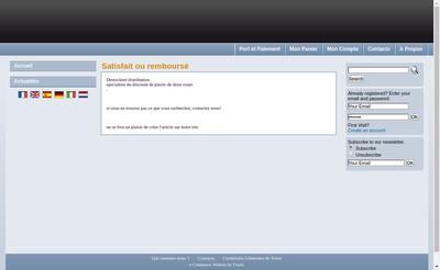 Site internet de Destocknet Distribution