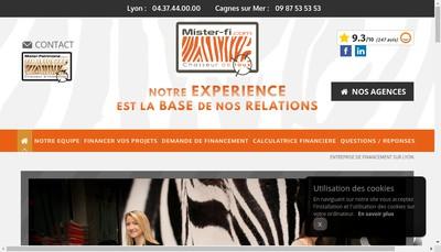 Site internet de Mister Fi