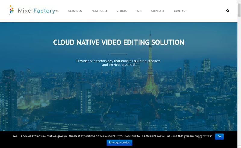 Capture d'écran du site de Mixerfactory